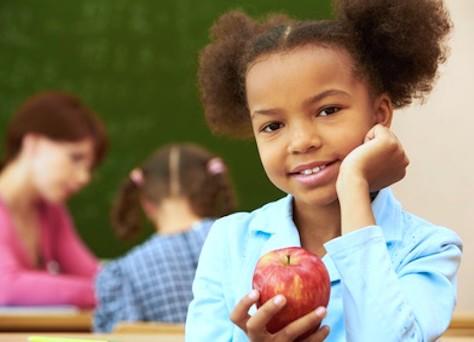 Mädchen Apfel Logo 2